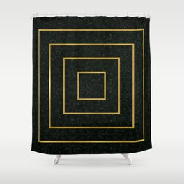 Golden Squares Shower Curtain