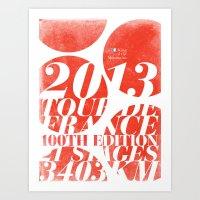 King of the Mountains: Tour de France 2013 Art Print