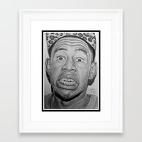 tyler the creator Framed Art Prints featuring Tyler, The Creator Drawing by ColleenTrillow