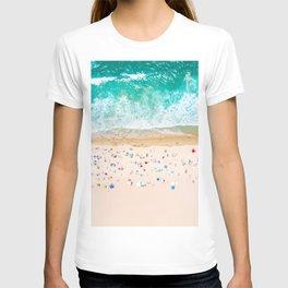 Drone shot of Manhattan beach T-shirt
