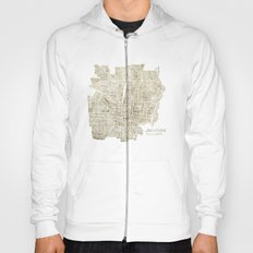 Jackson Mississippi watercolor city map Hoody