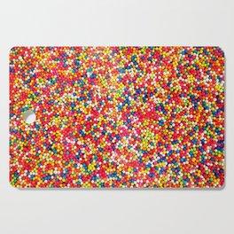 Vibrant Rainbow Sprinkles Cutting Board