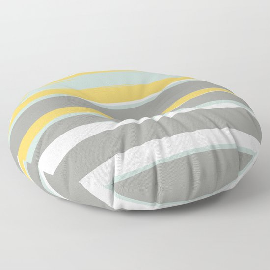 Stripe Abstract, Sun and Beach, Yellow, Pale, Aqua Blue and Gray by meganmorrisart