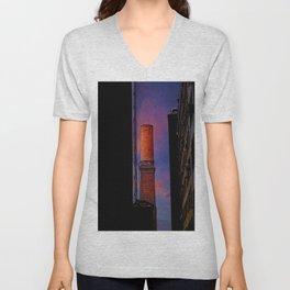 New York Sunset 10 Unisex V-Neck