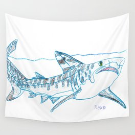 Tiger Shark II Wall Tapestry