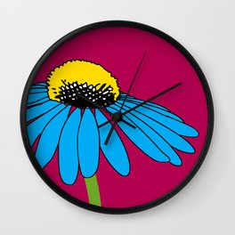 The ordinary Coneflower Wall Clock