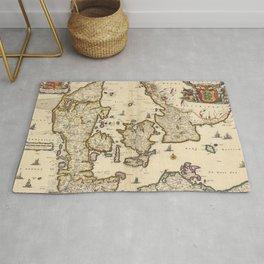 Vintage Map of Denmark (1690) Rug