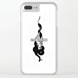 Save Yourself Clear iPhone Case