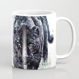 Panther watercolor painting predator animals puma jaguar wild & fre Coffee Mug