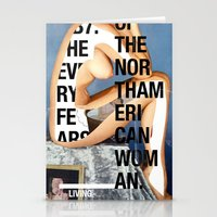 american Stationery Cards featuring The North American Woman by Matthew Billington