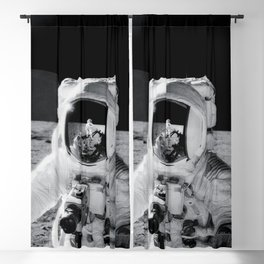 Astronaut Alan Bean holds Special Environmental Sample Container Blackout Curtain