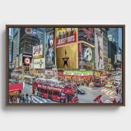 Times Square II Special Edition I Framed Canvas