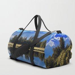 Morning Reflections at Lake Matheson Duffle Bag
