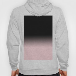 Modern abstract elegant black blush pink gradient pattern Hoody