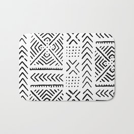 Line Mud Cloth Bath Mat