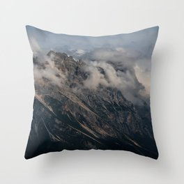 Postcards from Dolomites Throw Pillow