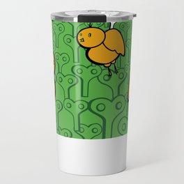 Yellow Keyturn birds Travel Mug