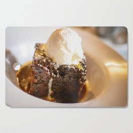 Sticky toffee pudding and ice-cream Cutting Board