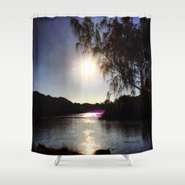 Sunrise on the River Glint! Shower Curtain