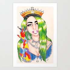 PRINCESS HIGH Art Print