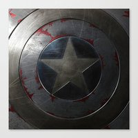shield Canvas Prints featuring SHIELD by Bilqis