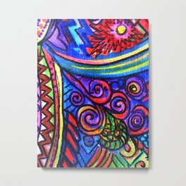 Textured Abstract with a Plethora of Plummage Metal Print