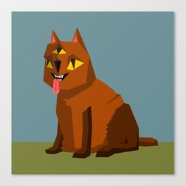 Three eyed cat creature Canvas Print