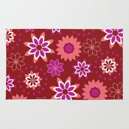 Floral Red Pattern Rug