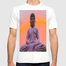 Sundown Buddha MEDIUM Mens Fitted Tee White