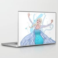 frozen elsa Laptop & iPad Skins featuring Elsa by Adelys