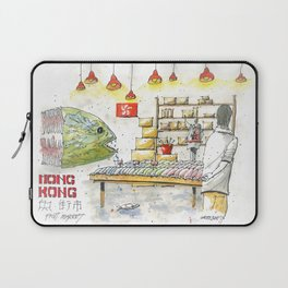 Hong Kong Fish Market Laptop Sleeve