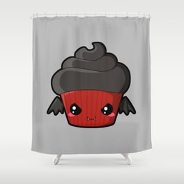 Spooky Cupcake - Vampire Shower Curtain