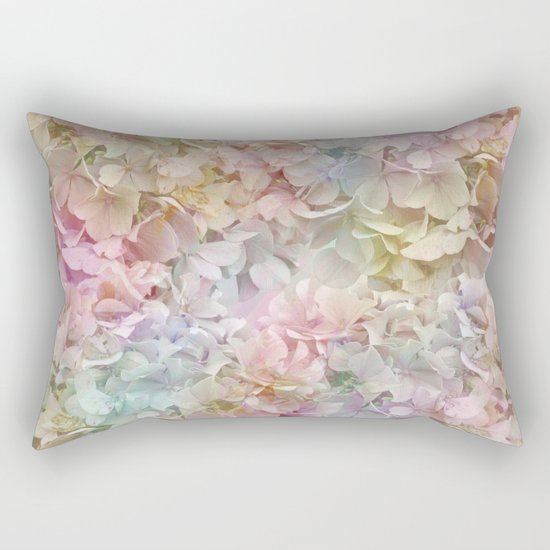 Pastel Hydrangeas Rectangular Pillow