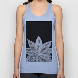 Gray Agave with Rose Gold Glitter #2 #shiny #tropical #decor #art #society6 Unisex Tank Top