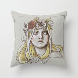 Yavanna the Queen of Earth Throw Pillow