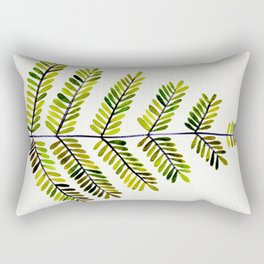Green Leaflets Rectangular Pillow