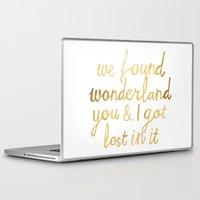 wonderland Laptop & iPad Skins featuring Wonderland by Tangerine-Tane