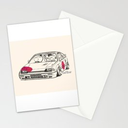 Crazy Car Art 0165 Stationery Cards