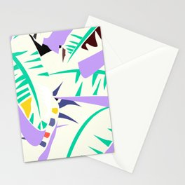 Memphis banana leaves Stationery Cards