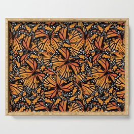 Monarch Butterflies Serving Tray