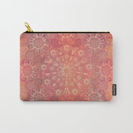 """""""Coral & Rosewood Mandala (pattern)"""" Carry-All Pouch"""