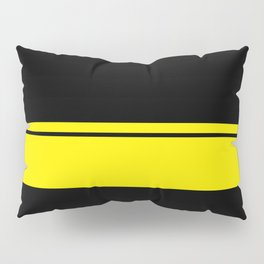 Yellow Racing Stripe Berlin Style Pillow Sham