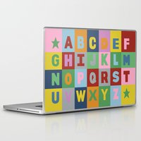alphabet Laptop & iPad Skins featuring Alphabet by Project M