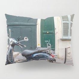 Vespa in Montmartre Pillow Sham