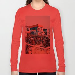 Bicycle Parking Lot Long Sleeve T-shirt