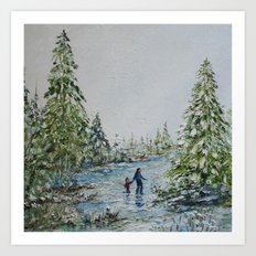 Walking in a Winter Wonderland Art Print