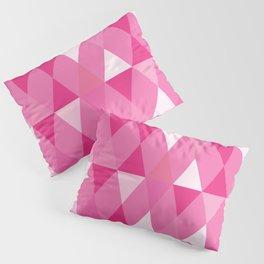 Harlequin Print Pinks Pillow Sham
