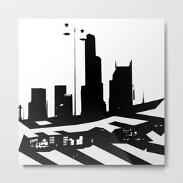 City Scape in Black and White Metal Print