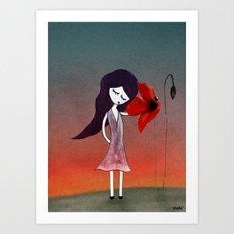 La fleur sans voix Art Print