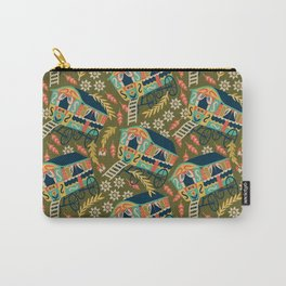 Gypsy Wagon Pattern Carry-All Pouch